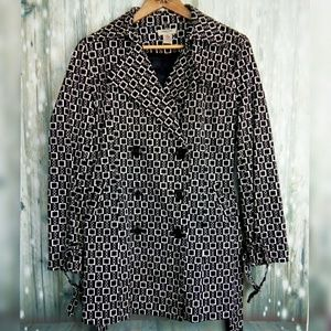 Vertigo Paris block chain print pea coat style